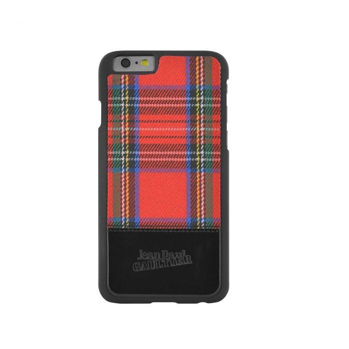 coque jean paul gaultier tartan rouge pour iphone 6 6s. Black Bedroom Furniture Sets. Home Design Ideas