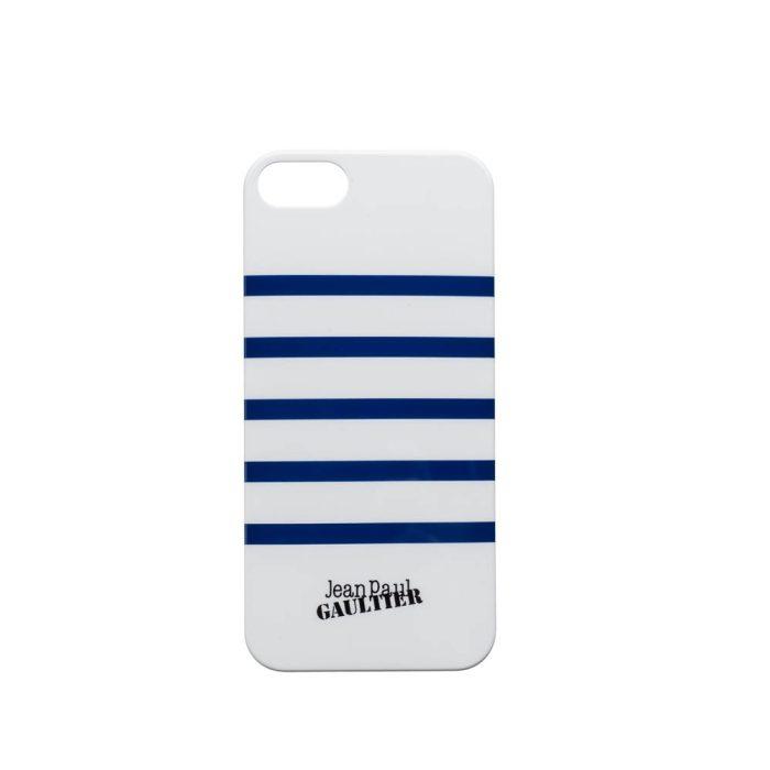 Coque Jean Paul Gaultier Marinière - Blanc/Bleu pour iPhone 5 / 5s / 5se